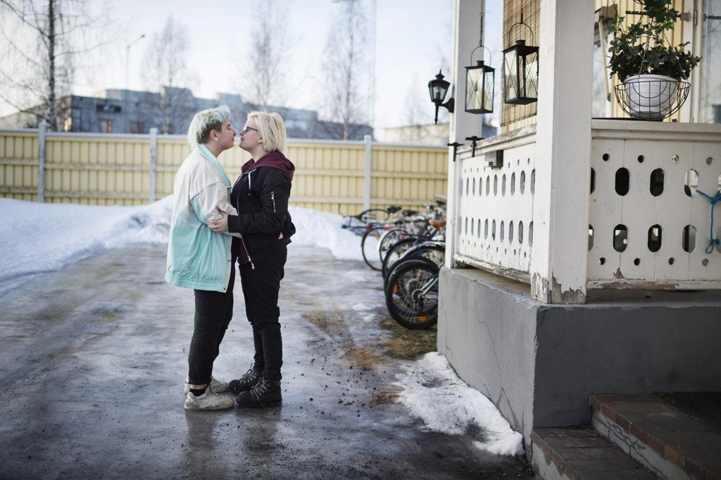 Pim med sin ena partner Olli.